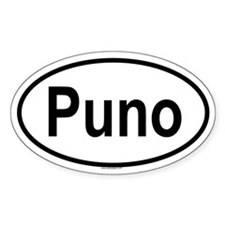 PUNO Oval Decal