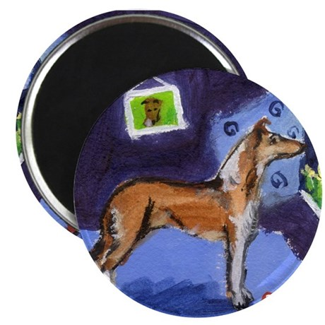 SMOOTH COLLIE sable moon Magnet