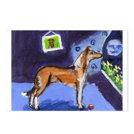 SMOOTH COLLIE sable moon Postcards (Package of 8)