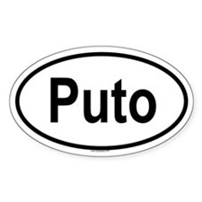 PUTO Oval Decal