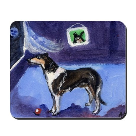 SMOOTH COLLIE tri colored moo Mousepad