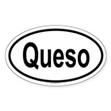 QUESO Oval Decal