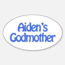 Aiden's Godmother Oval Decal