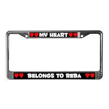 My Heart: Reba (#001) License Plate Frame