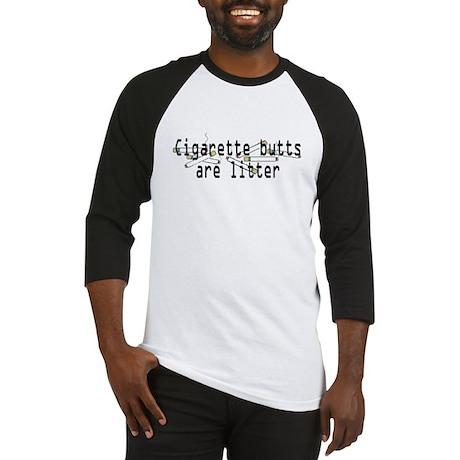 Butts are Litter Baseball Jersey