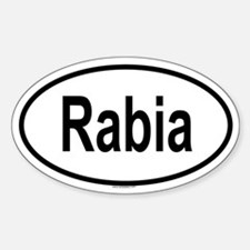 RABIA Oval Decal