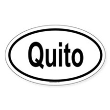 QUITO Oval Decal