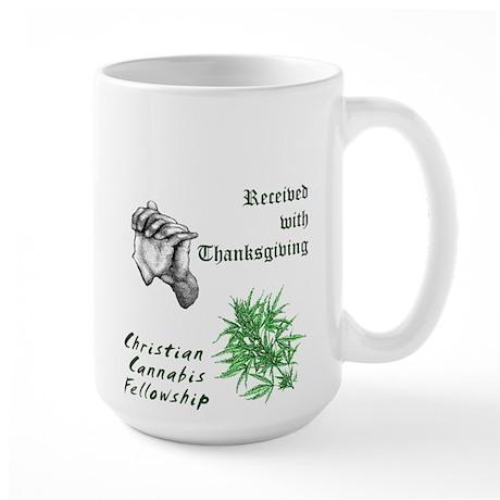 Christian Cannabis Fellowship Large Mug