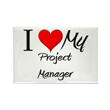 I Heart My Project Manager Rectangle Magnet
