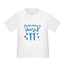 March 11th Birthday T