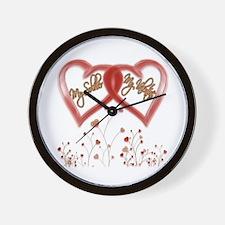 My Soldier, My Valentine Wall Clock