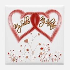 My Soldier, My Valentine Tile Coaster