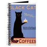 Black cat coffee Journals & Spiral Notebooks