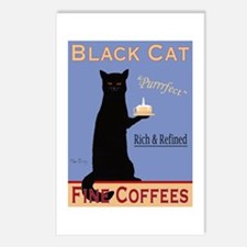 Black Cat Fine Coffees Postcards (Package of 8)