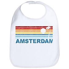 Retro Palm Tree Amsterdam Bib