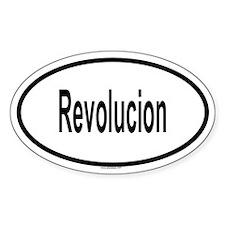 REVOLUCION Oval Decal