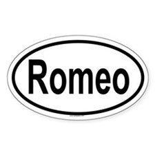 ROMEO Oval Decal