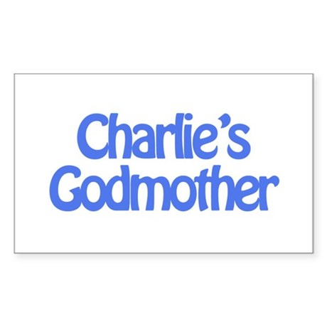 Charlie's Godmother Rectangle Sticker