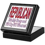 It's My Party Republican Keepsake Box