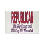 It's My Party Republican Rectangle Magnet (100 pac