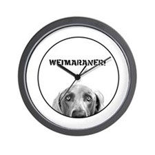 Weimaraner In A Box! Wall Clock