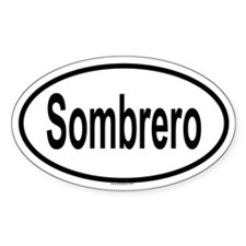 SOMBRERO Oval Decal