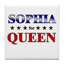 SOPHIA for queen Tile Coaster