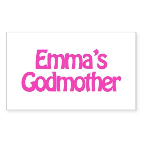 Emma's Godmother Rectangle Sticker