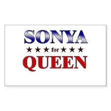 SONYA for queen Rectangle Decal
