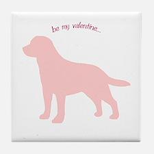 Labrador Retriever... Be My Valentine Tile Coaster
