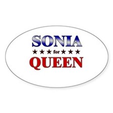 SONIA for queen Oval Decal