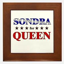 SONDRA for queen Framed Tile