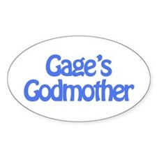 Gage's Godmother Oval Decal