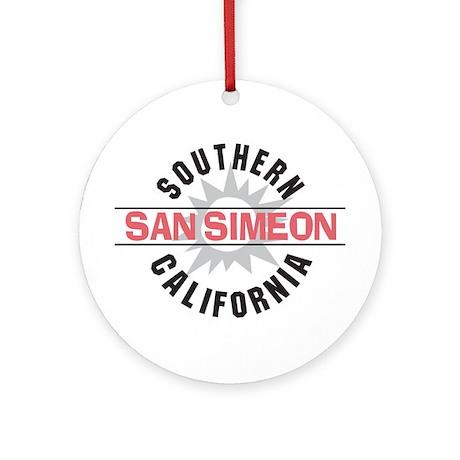 San Simeon California Ornament (Round)