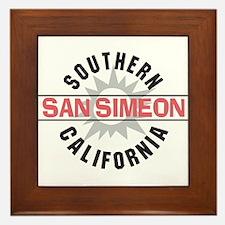 San Simeon California Framed Tile