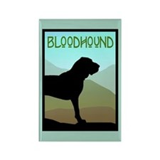 Craftsman Bloodhound Rectangle Magnet