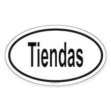 TIENDAS Oval Decal