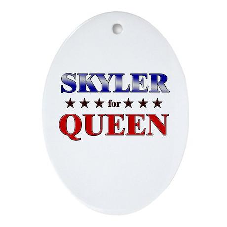 SKYLER for queen Oval Ornament