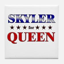 SKYLER for queen Tile Coaster