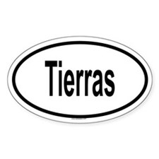 TIERRAS Oval Decal