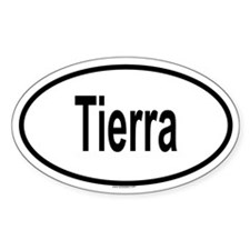 TIERRA Oval Decal