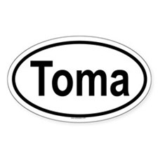 TOMA Oval Decal