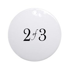 2 of 3 (middle child) Ornament (Round)