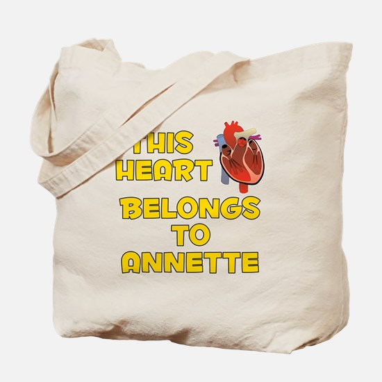 This Heart: Annette (A) Tote Bag
