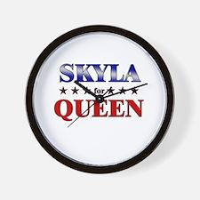 SKYLA for queen Wall Clock