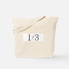 1 of 3 (1st born oldest child) Tote Bag