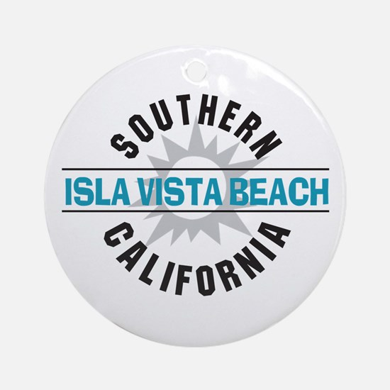 Isla Vista California Ornament (Round)
