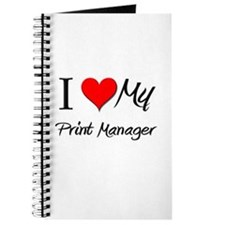 I Heart My Print Manager Journal