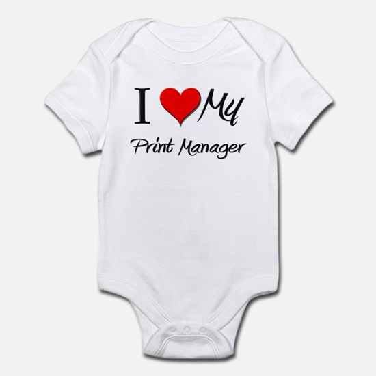 I Heart My Print Manager Infant Bodysuit