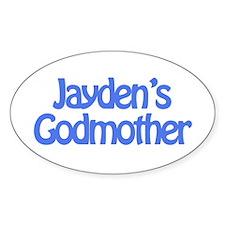 Jayden's Godmother Oval Decal